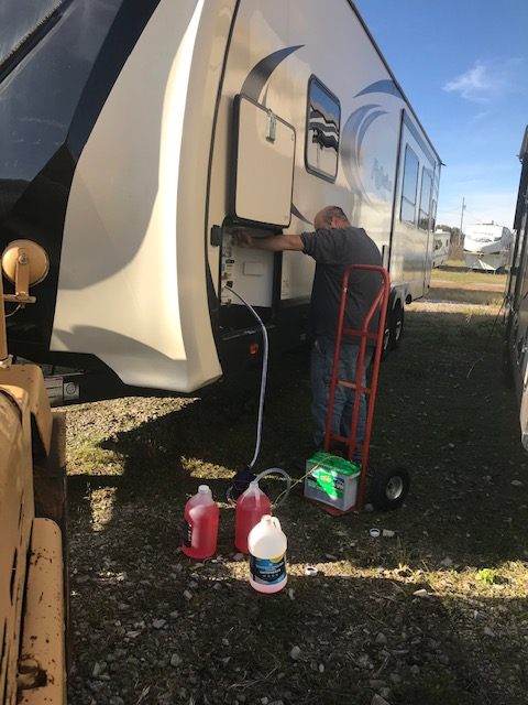 Don't wait till it gets cold to get your RV ready for winter. Call or come by today and make an appointment to winterize.