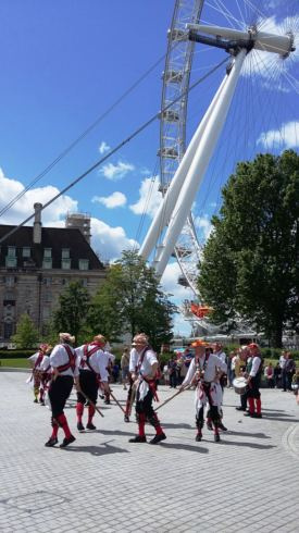 Sword Dance next to the London Eye