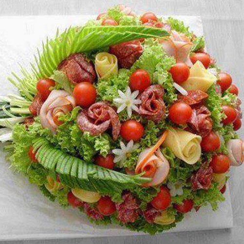 Ham and Cheese Bouquet
