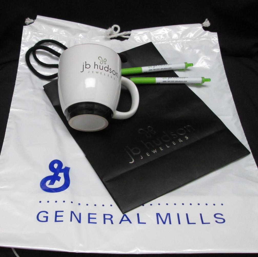 and General Mills Bags / JB Hudson Mugs & Pens