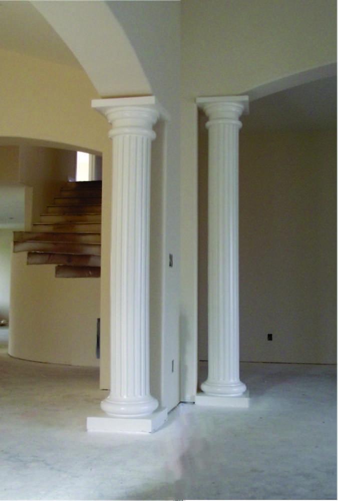 Fluted Interior Columns