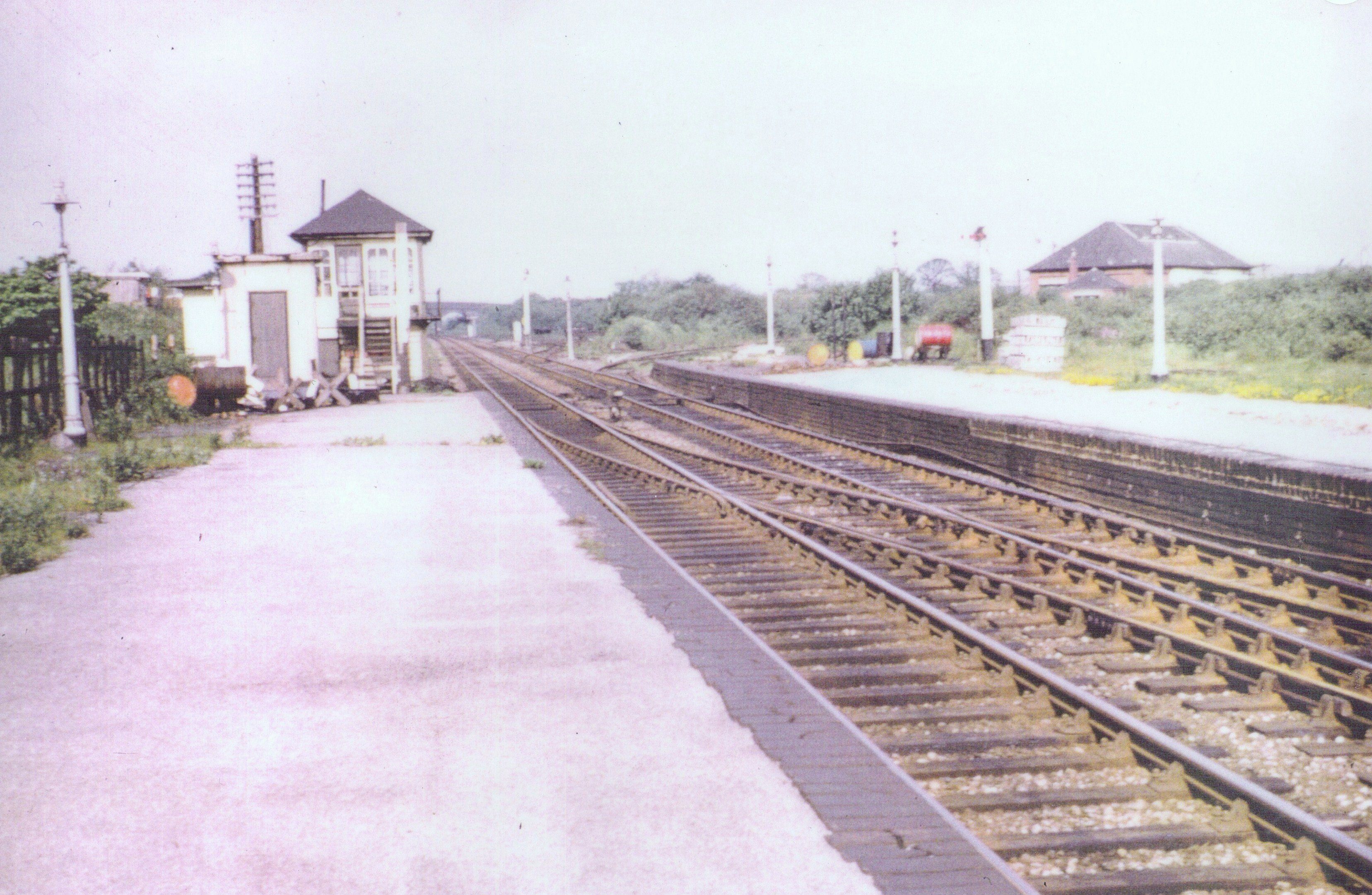 Signal Box.  view along track towards Walsall