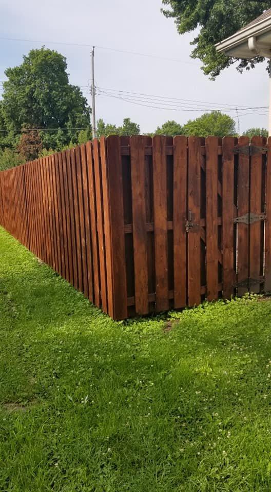 Dark Brown Wooden Fence