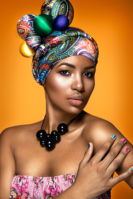 Beautiful woman colorful portrait