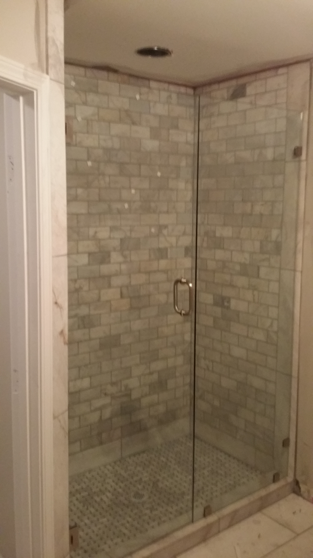 Frameless Shower Door With Side Lite