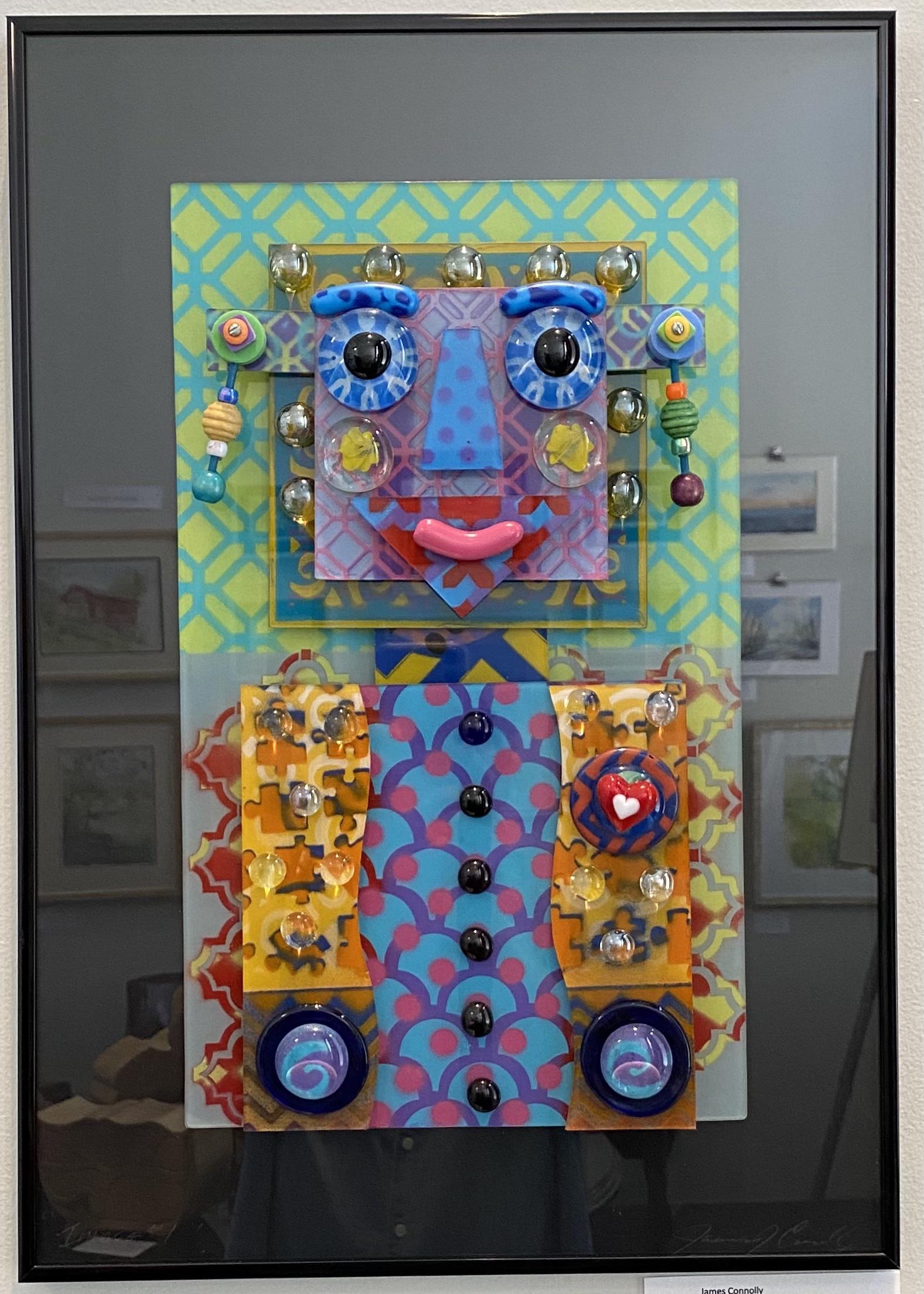 "Heart Woman Glass 14"" x 20"" $275."