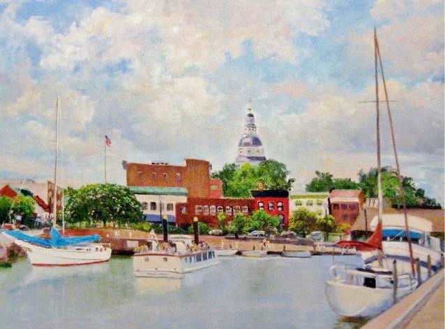 14. Annapolis Harbor, 16x22  oil on canvas