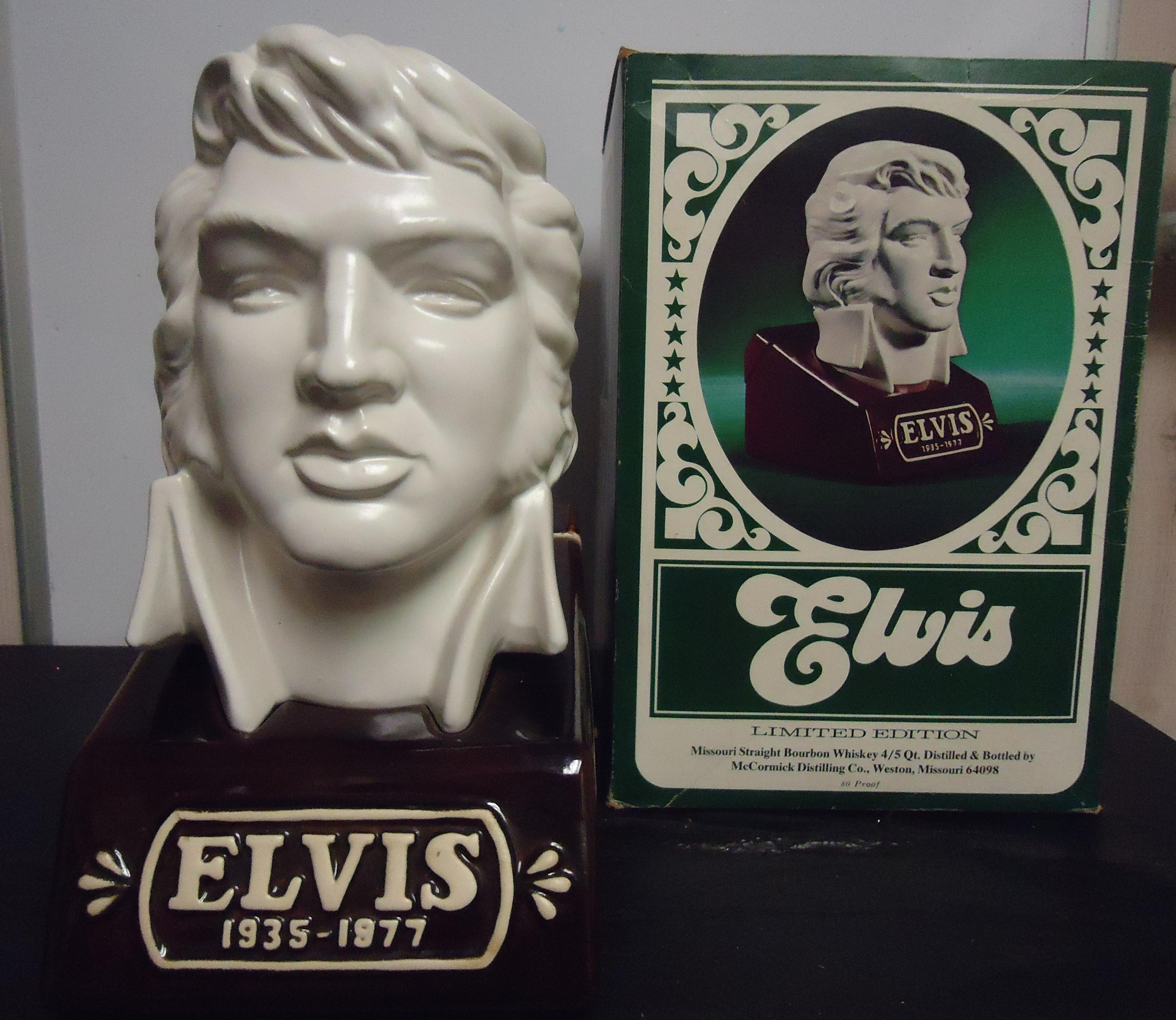 "(12) ""RARE"" Elvis Decanter W/ Box $65.00"