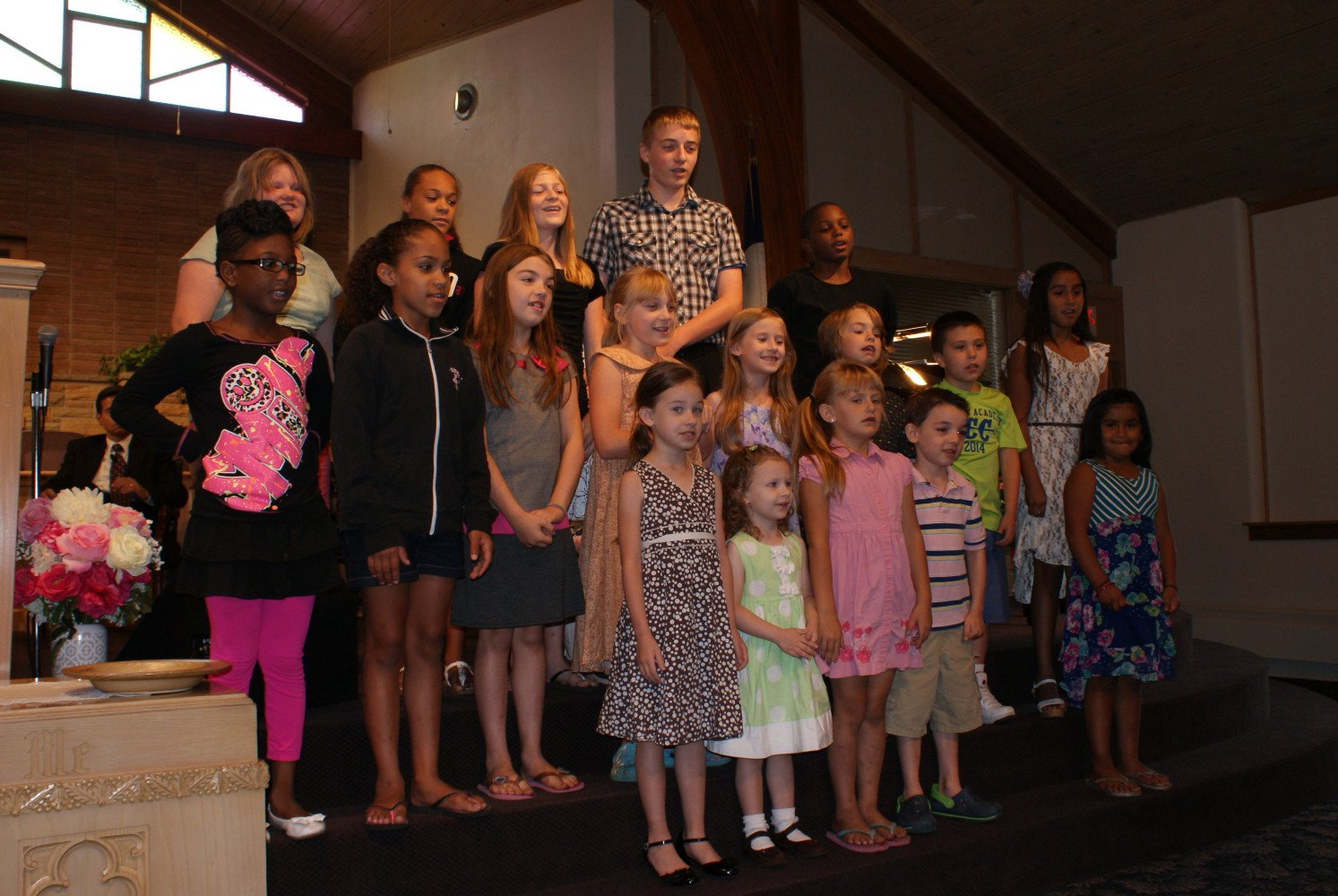Junior Church doing special music for the congregation
