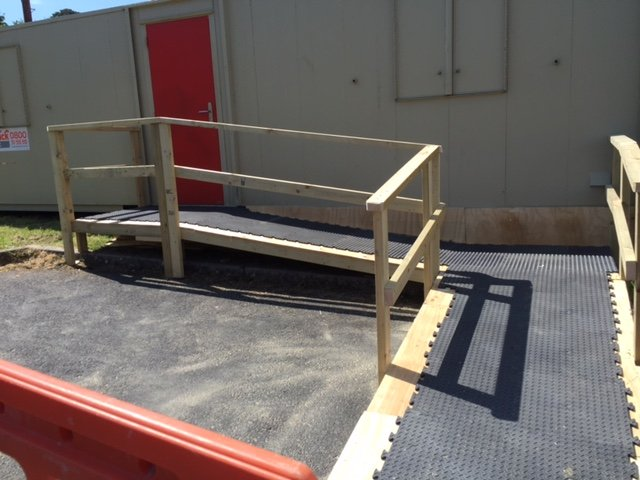 Temporary ramps