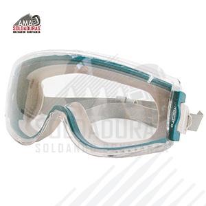 GOGGLE STEALTH PARA QUÍMICOS Categoría: Goggle Descripción: Color azul verdoso del cuerpo del goggle. Excelente visión periférica. Ideal para salpicaduras químicas. Con recubrimiento Uvextreme AF, antiempañante, antirayaduras y antiestático.  Norma: ANSI/ISEA Z87.1-2010 y CSA Z94.3-1992