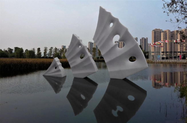 Under Full Sails-  granite - Changsha - China
