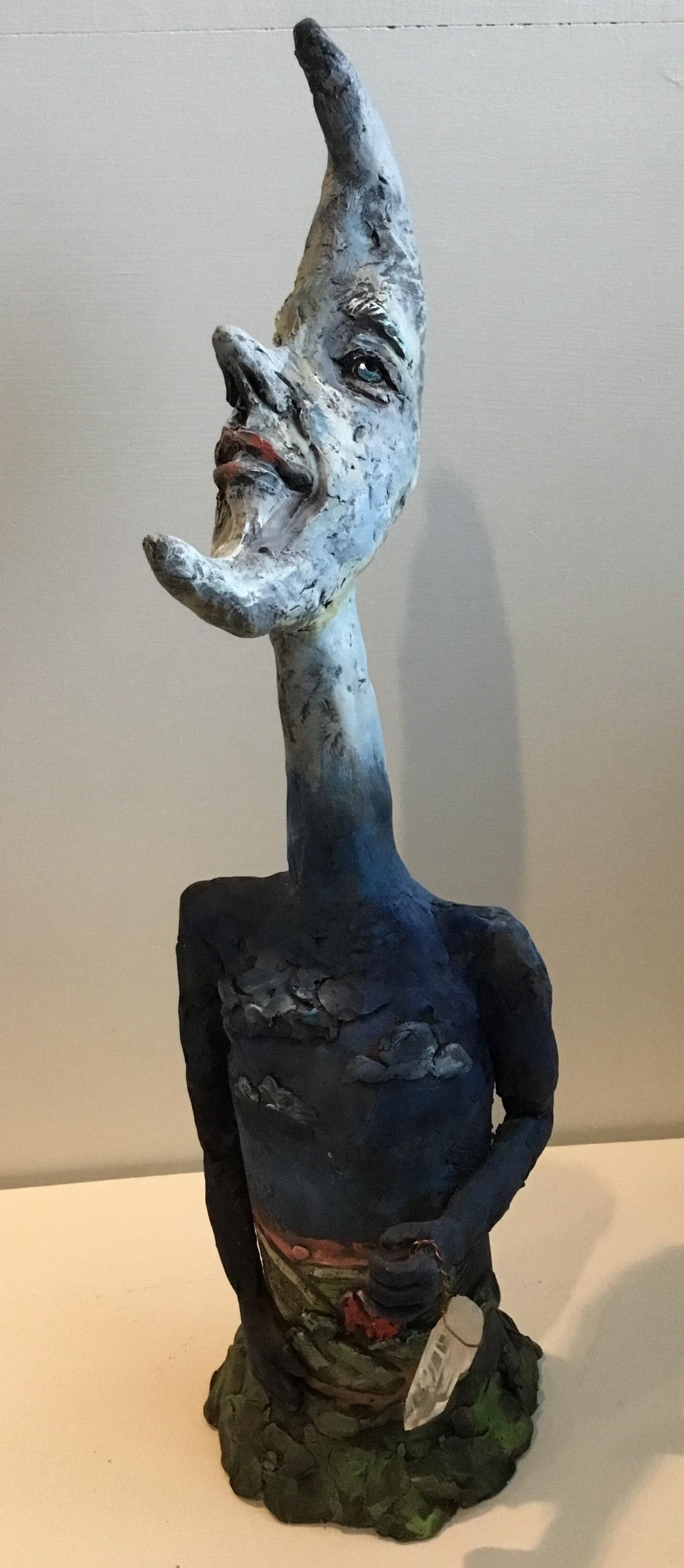 "Moon Head  Ceramic 15"" $220."