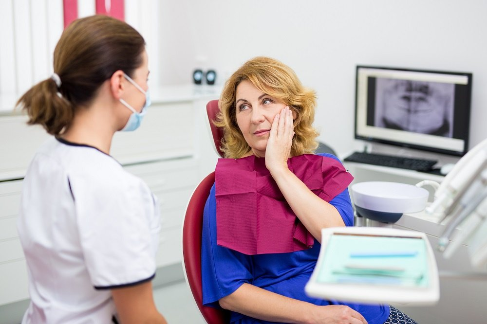 Older Woman with Dentist