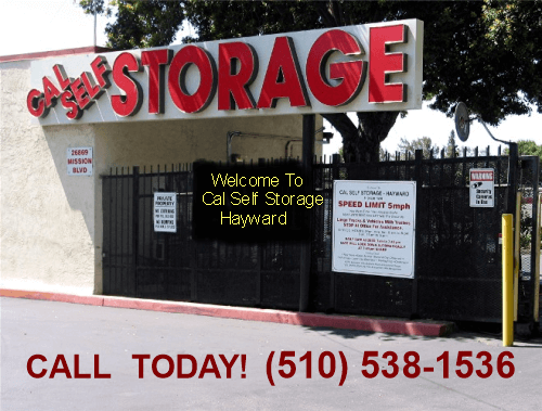 Cal Self Storage entrance gate
