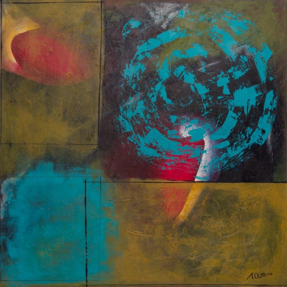 Encuentro, 2017 Acrilico sobre tela 100 x 100 cm