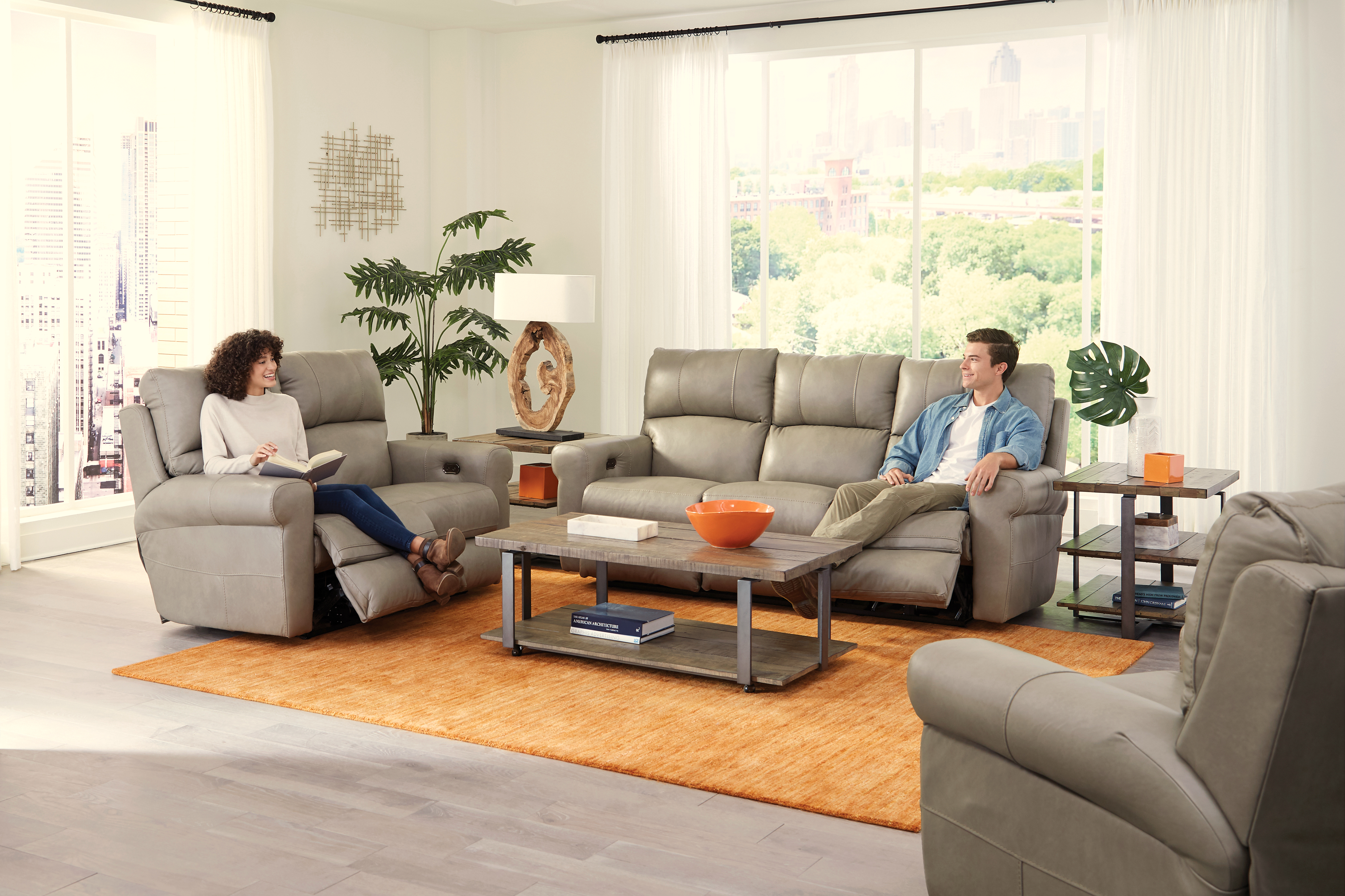 6457 Toretta Leather Reclining Living Room Set by Jackson Catnapper