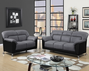 9103 Grey Sofa, Love, Chair