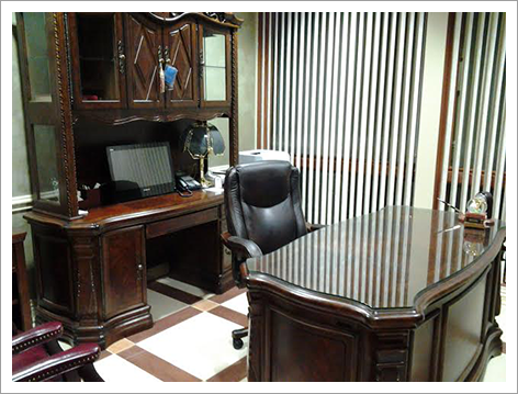 Interior view of an office||||