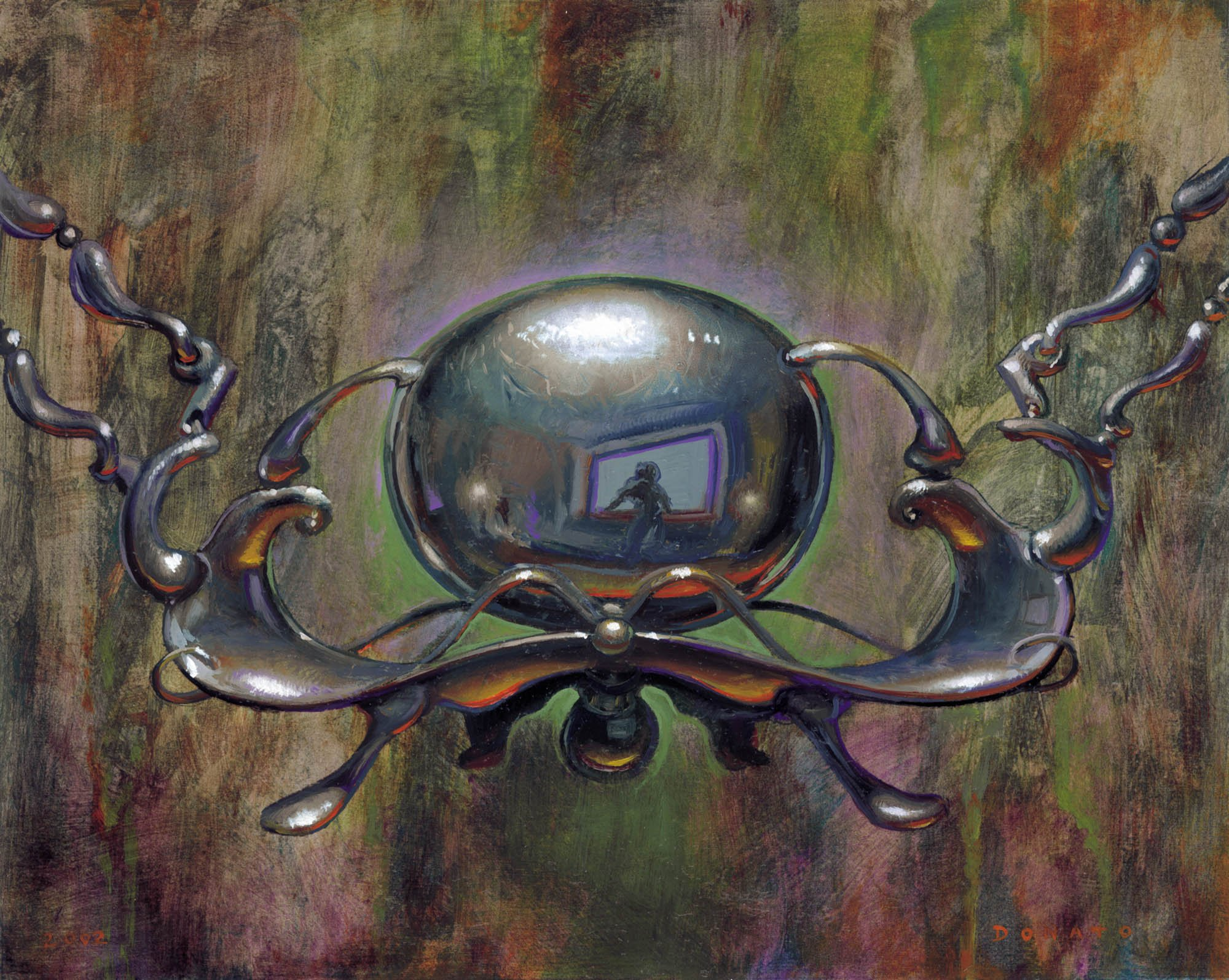 "Chrome Mox Mirrodin 10"" x 13""  Oil on Panel 2000 private collection prints available in the store"