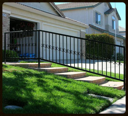 """Hand rail shown with """"Bows"""" on pickets"""