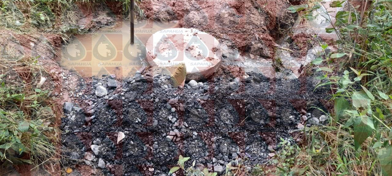 Mantenimiento a la línea de drenaje general en la barranca de los pinos   Mes: Octubre
