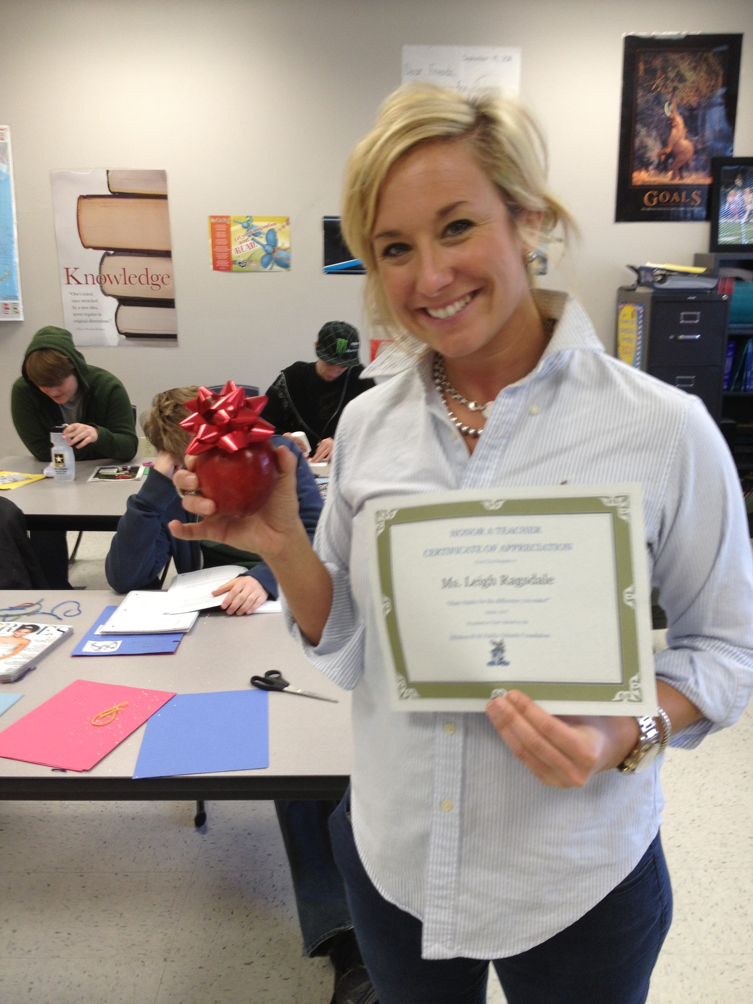 Lee Anne Ragsdale, classroom teacher