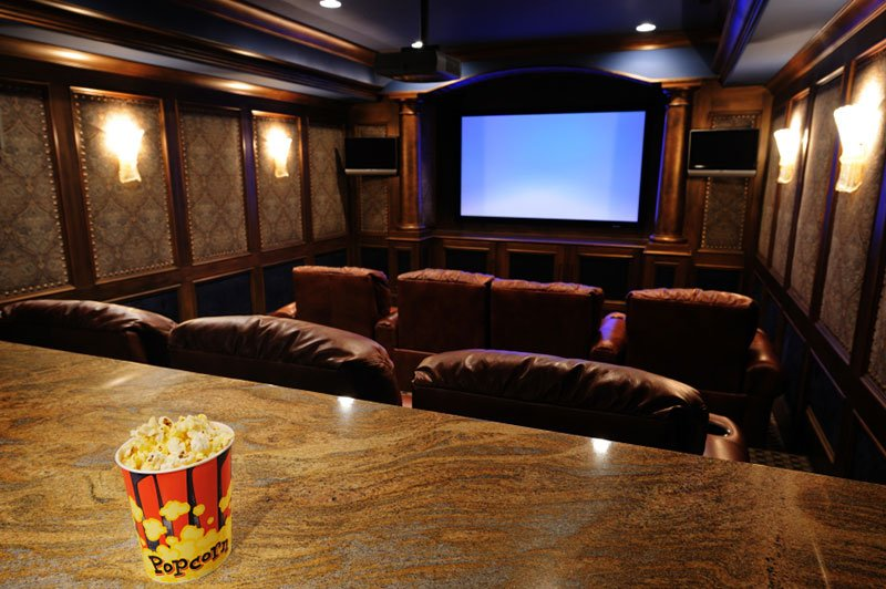 Beautiful home theater room