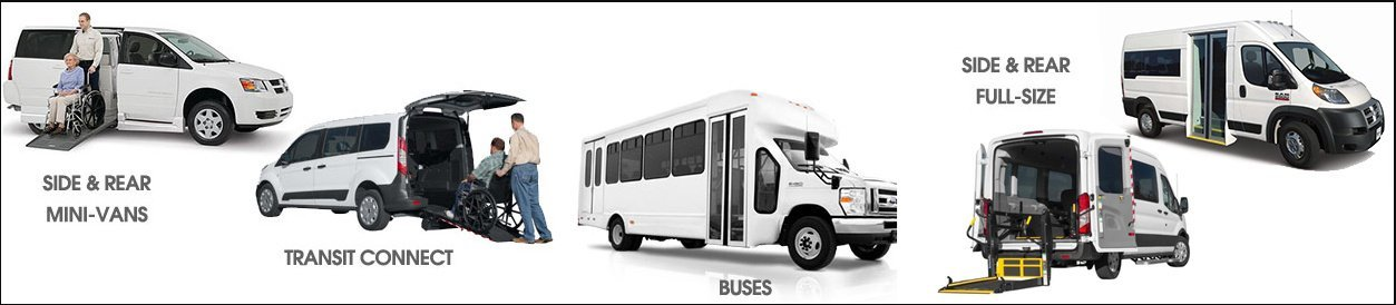 Transportation Vehicles with wheelchair access that Tootl transport has to offer for our private and corporate customers.