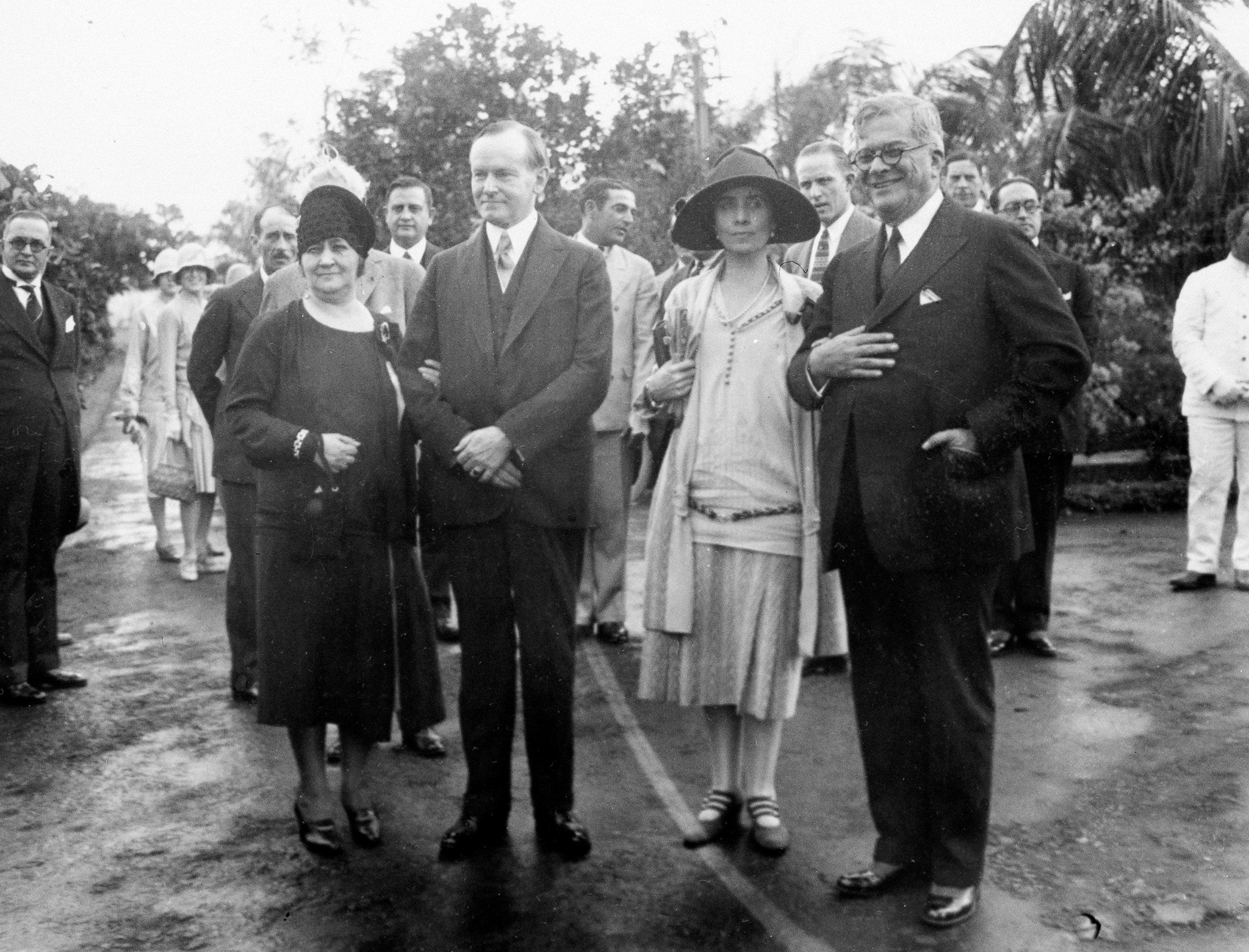 US President Calvin Coolidge with Cuban president Gerardo Machado, circa 1930s