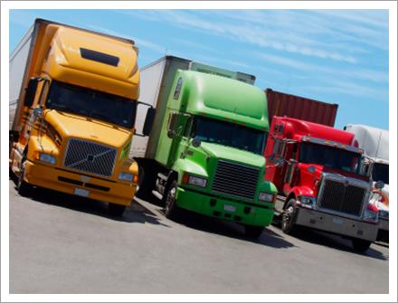 3 different colour trucks||||