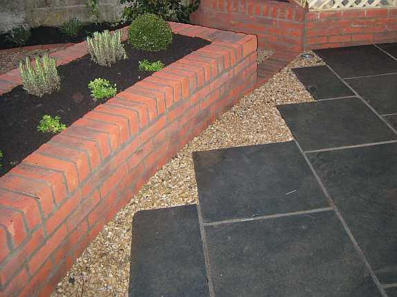 Brick raised beds in Templeogue