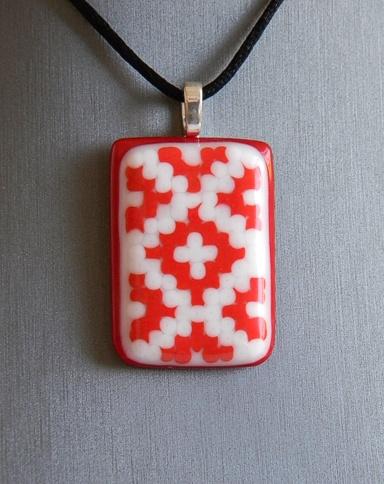 """Embroidery_06"" by Nataliya Guchenia Size - 1-3/4""H X 1-1/4""W $35.00"