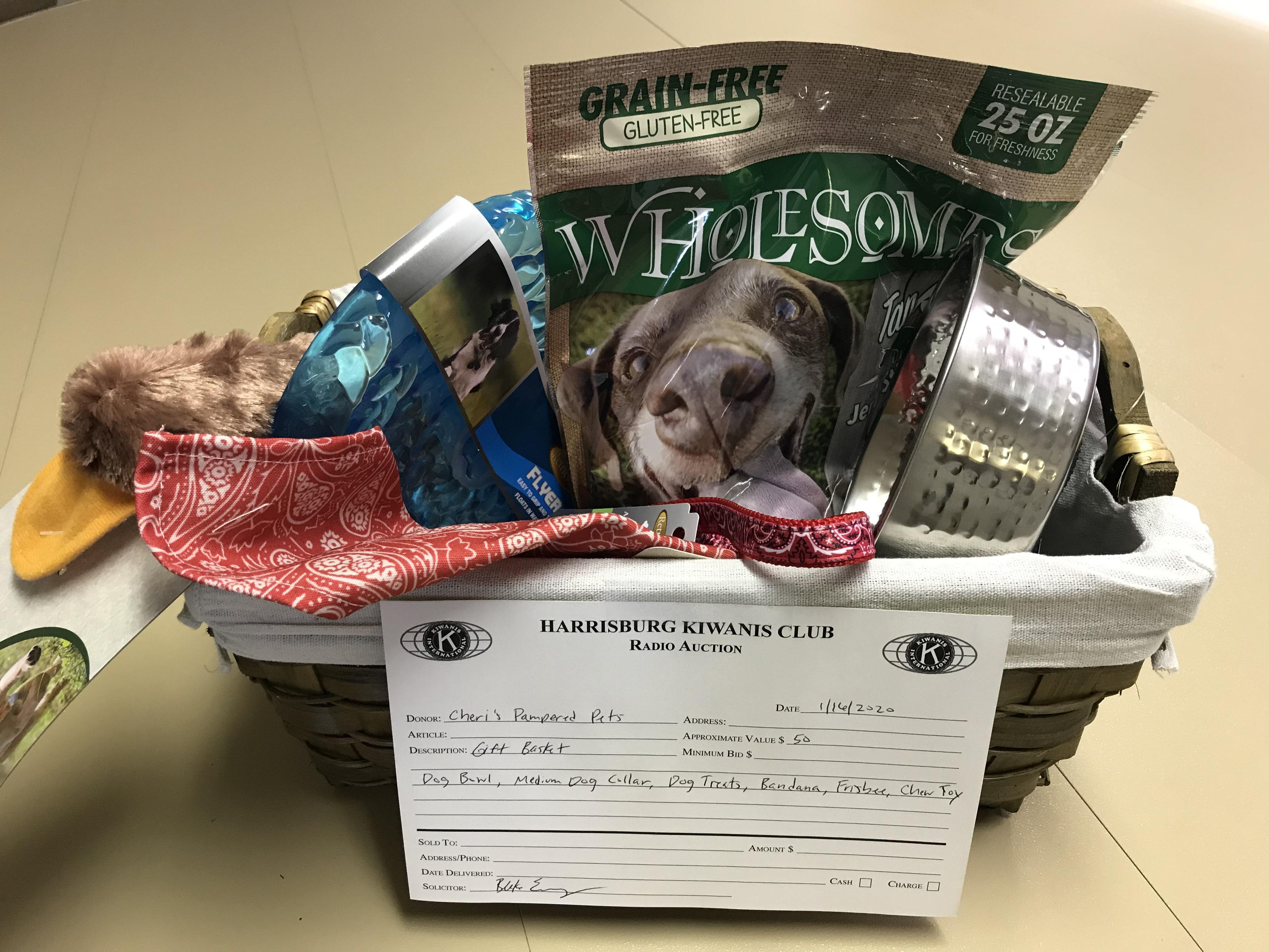 Item 421 - Cheri's Pampered Pets Dog Gift Basket