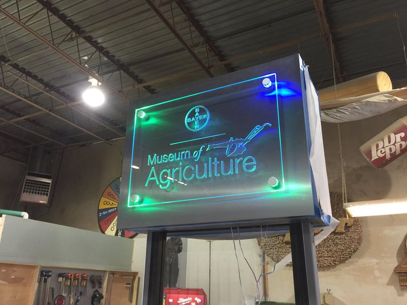Back lighted Acrylic Sign