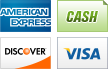 We accept American Express, Cash, Discover and Visa.||||