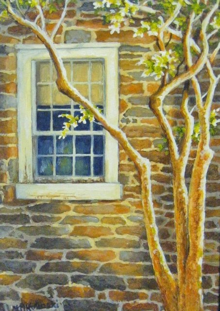 "Mary Kokoski, Peirce Mill, 7"" x 5"" Acrylic SOLD"
