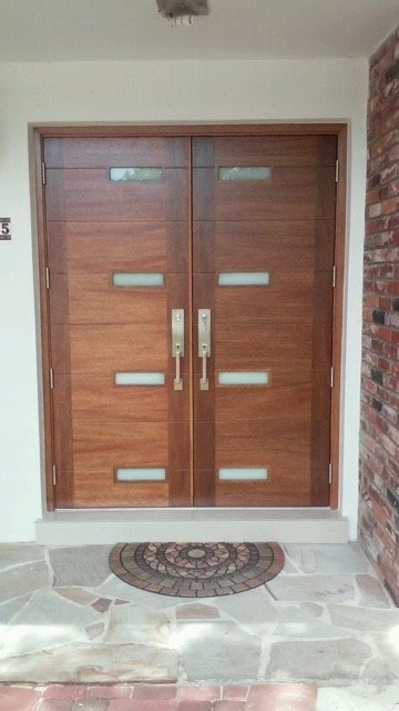 Glass Paneled Door