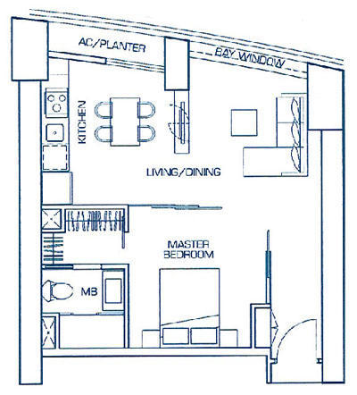 1 Bedroom Suite Type B