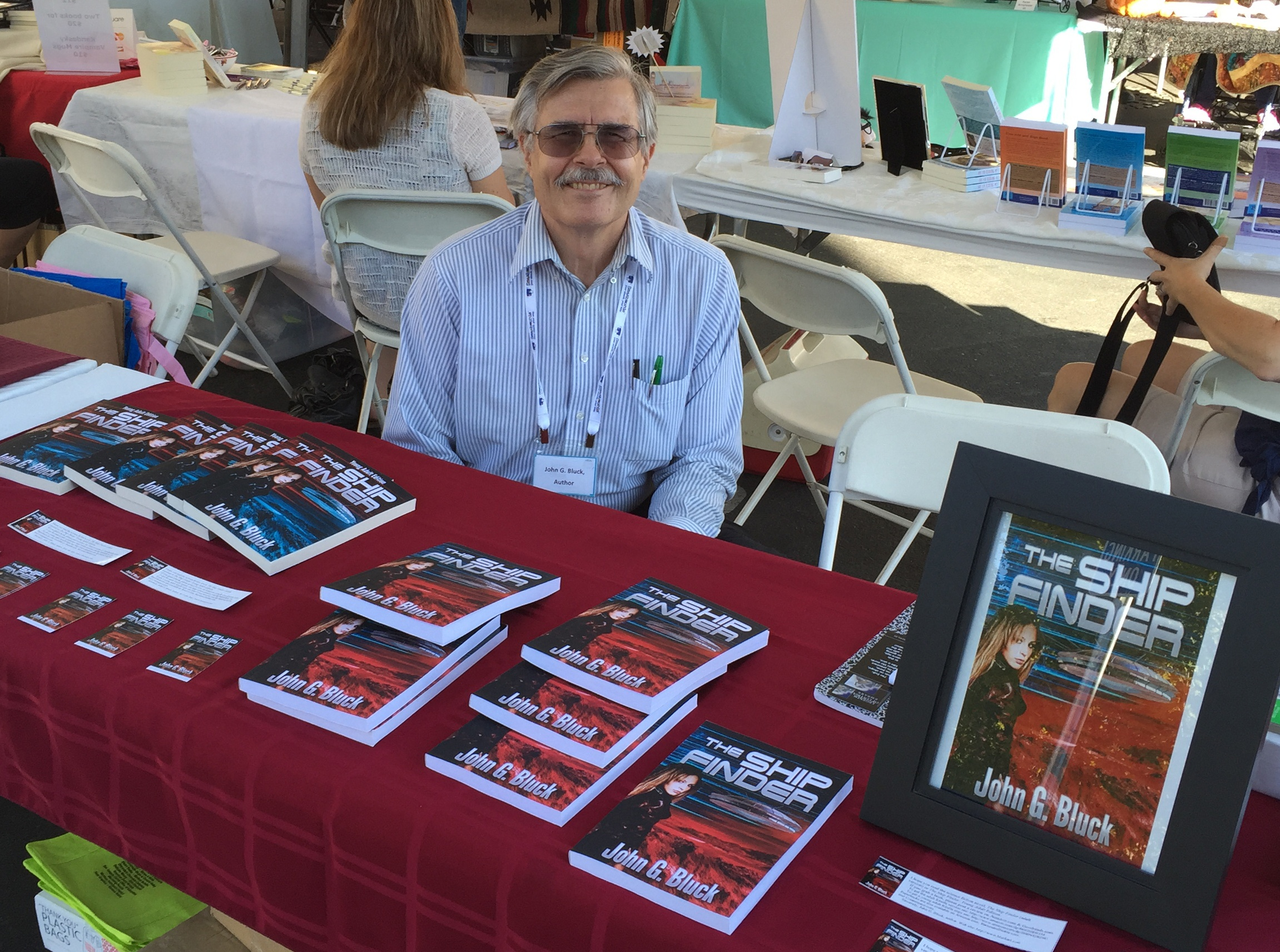 Author John G. Bluck at Manteca, Calif. Bookfest on Oct. 11, 2015.