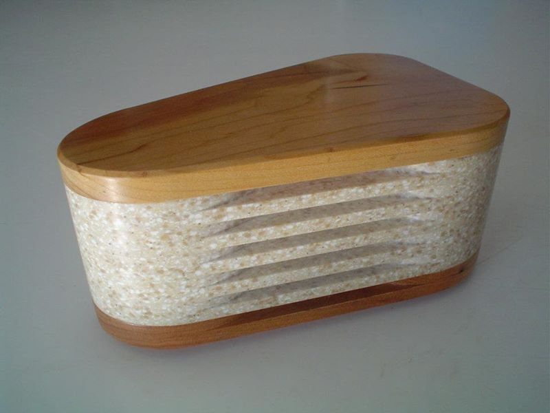 Wood and Corian Keepsake Box