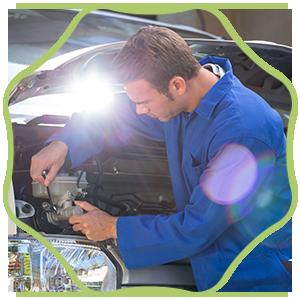 Mechanic Examining the Car
