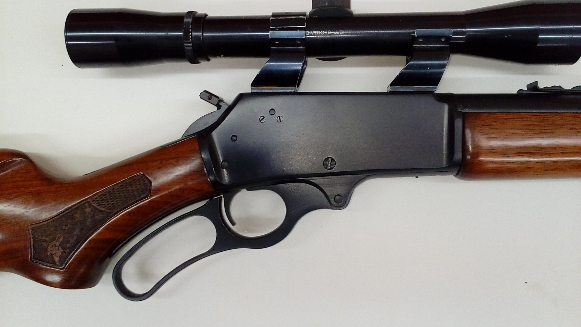 Marlin 3030 cerakoted in graphite black, this gun was also in a fire.