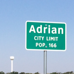Adrian City Limit Signage