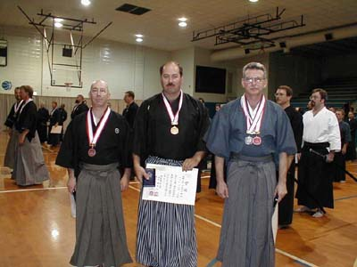 2nd Annual Orlando Taikai 2001. Tameshigiri -- 4th dan and above: 1. Ted Gonzalez, 2. Carl McClafferty, 3. Guy Power.