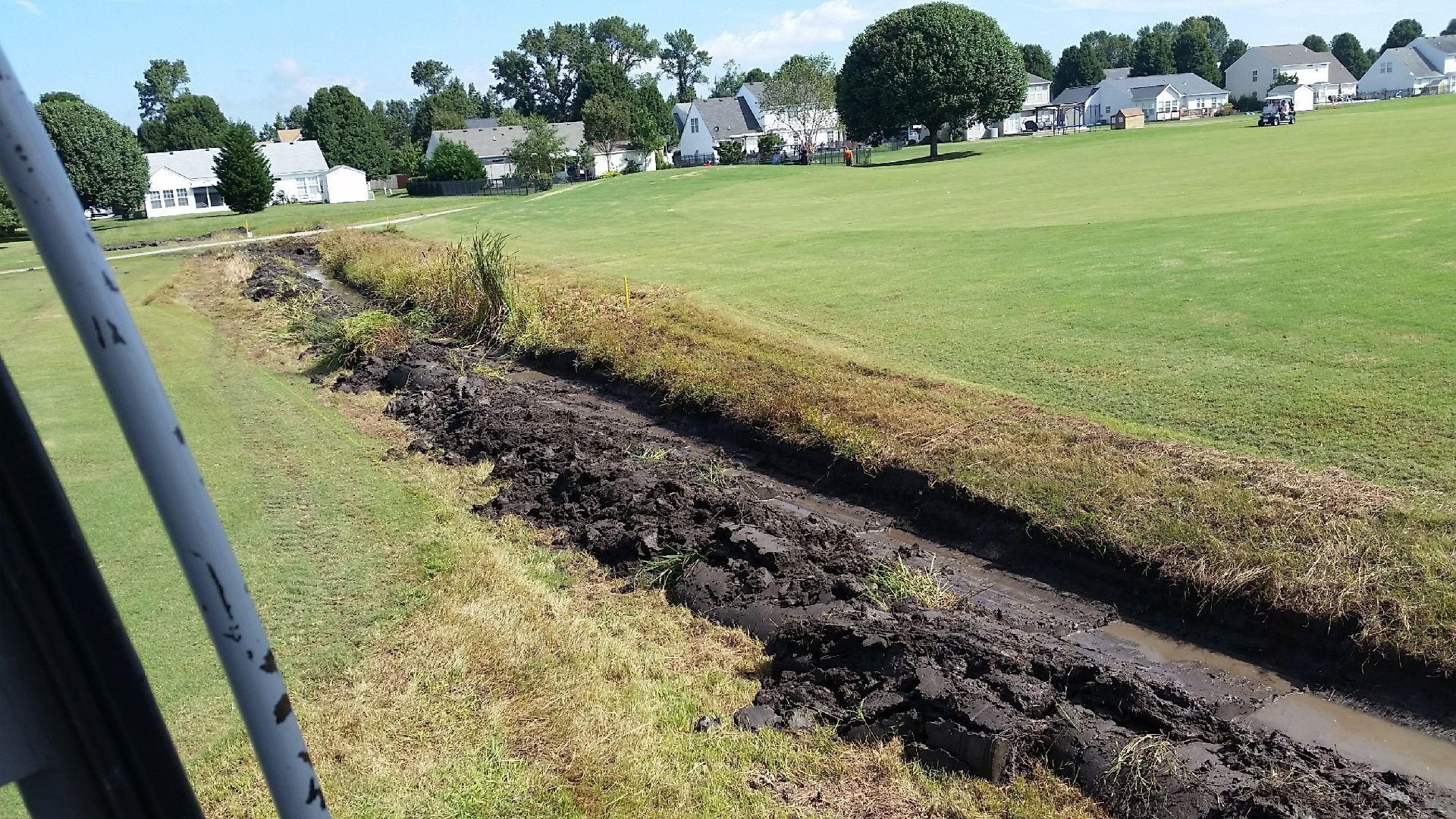 Ditch Under Construction
