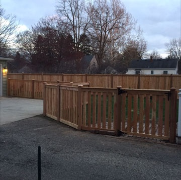 Picket With Cap Fence