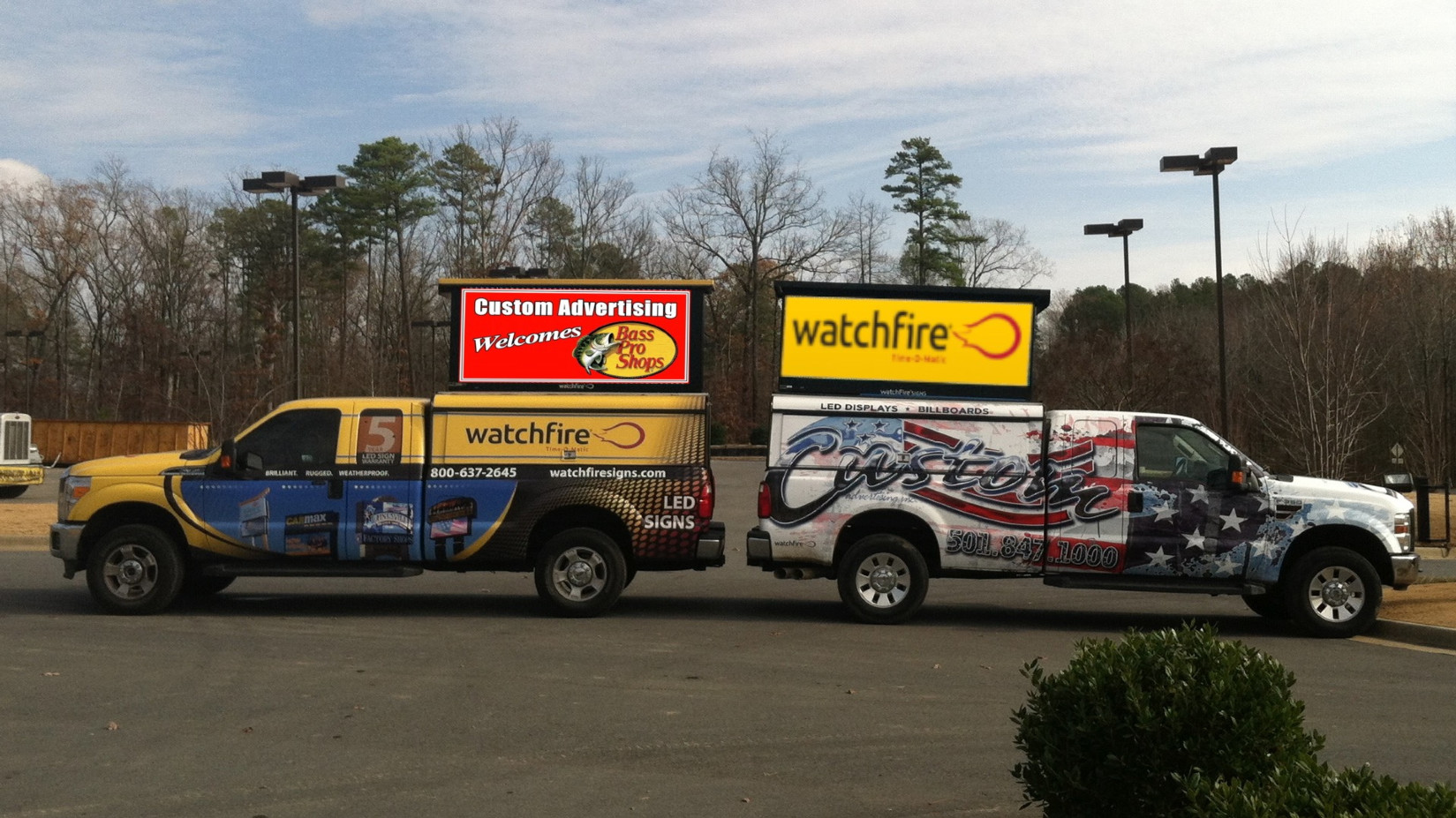 Custom Advertising is Arkansas' Number One Watchfire LED Dealer!