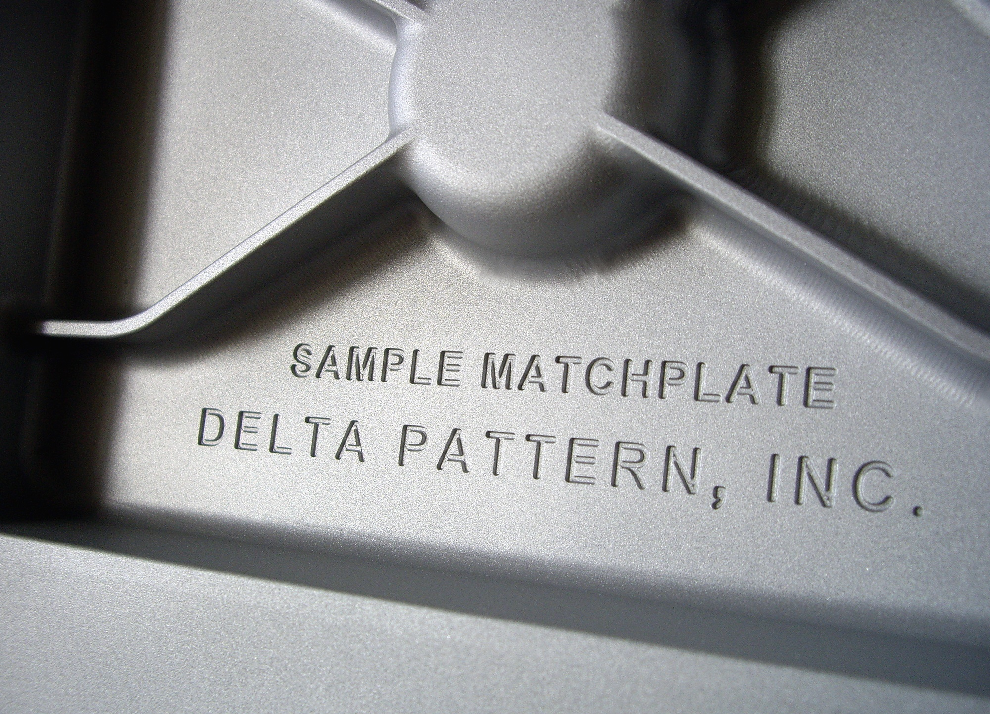 Aluminum Matchplate CNC machined from a billet (detail)
