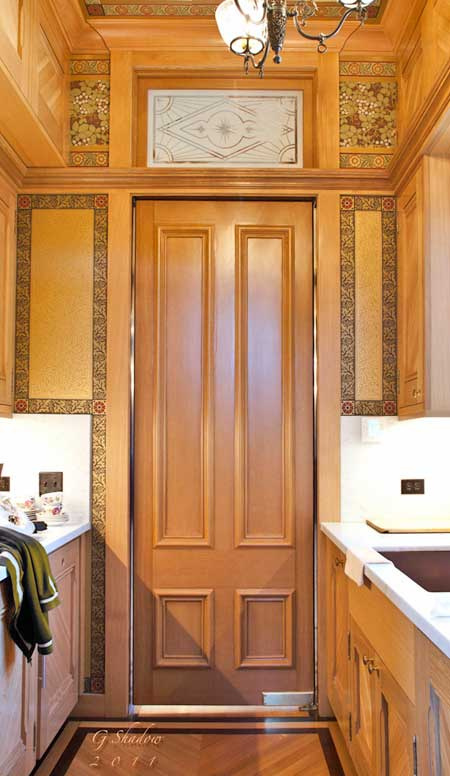 Butler's Pantry Panel Swing Door
